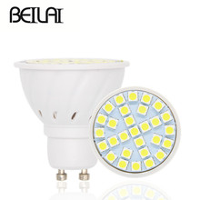 BEILAI 10PCS SMD 5050 Lampada LED Lamp E27 220V GU10 LED Spotlight MR16 Plastic Body Spot LED Bulbs Candle Luz Home Lighting