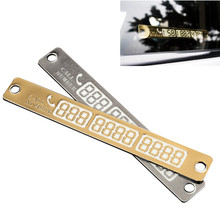 Car Styling Luminous Temporary Parking Card Phone Number Card Plate For VW Passat For Toyota Camry 4Runner Avalon For Honda CRV