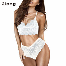 Buy New Sexy Women Underwear Sets Intimates Seamless Bras Sets Solid Lace Bra Lingerie Sets