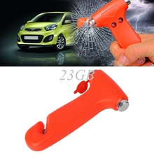 2017 NEW 2 in 1 Car Emergency Safety Escape Hammer Glass Window Breaker Belt Cutter Tool APR27_20(China)