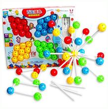 Early childhood educational toys Large Variety inserted beads hand-beaded fight inserted puzzle combinations toy