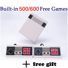 MYOHYA Mini Retro TV Handheld Game Console Video Game Console mini Games player Built-in 600/500 Different Games dual gamepads(China)