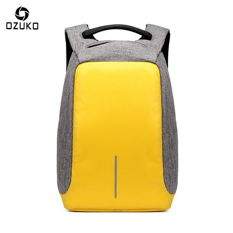 OZUKO New Style City Antitheft Mens Backpacks Fashion ideas USB Charge Computer Backpack Casual Laptop Rucksack School Bag 2017<br>