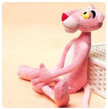 40CM Cute Pink Naughty Leopard Pink Panther Plush Stuffed Toys Baby Kids Doll Brinquedos