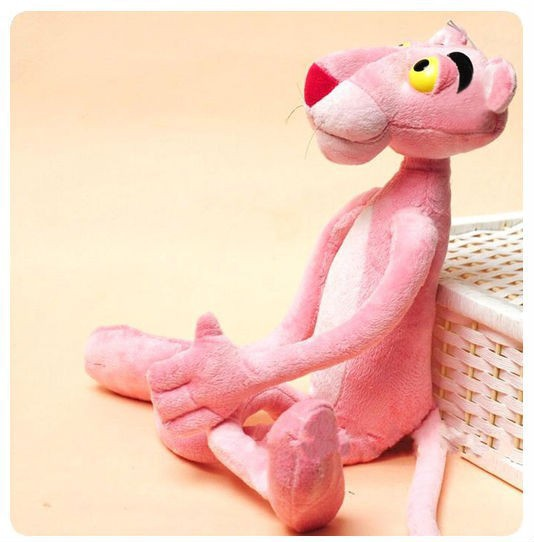 40CM Cute Pink Naughty Leopard Pink Panther Plush Stuffed Toys Baby Kids Doll Brinquedos(China (Mainland))