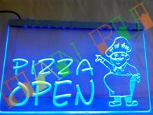 LB183- OPEN Pizza Shop Cafe Restaurant LED Neon Light Sign home decor shop crafts(China)