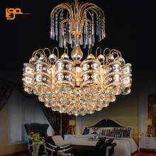 contemporary LED chandelier crystal lamps lustre remote control chandelier dinning room lights