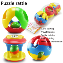 TWINKLECAT 0-2 years old baby toy jingle ball ball Rattle Baby Hand Bell puzzle suit early three piece toy that trains baby grip