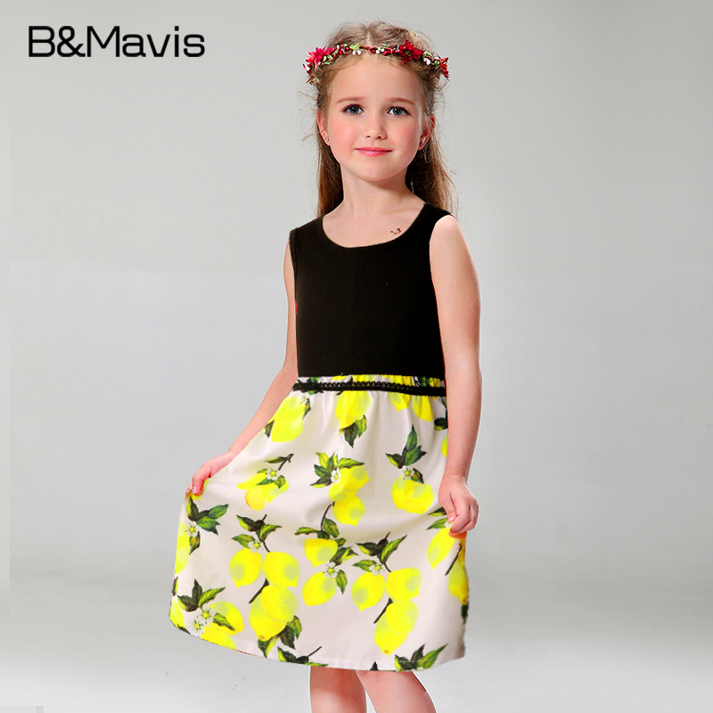 Casual Girls Clothes New Girls Dresses Summer 2016 Flower Printing Toddler Princess Dress Cotton Kids Clothes Children Clothing<br><br>Aliexpress