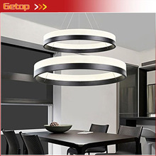 Best Price Modern Two Rings (11.8 - 19.7 Inches) Ceiling Light Fixture LED Lighting Circular Acrylic Lights(China)