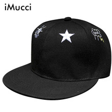 iMucci Fashion women Cartoon Snapback Caps SUN CLOUD STAR Embroidery Simple Design Snapback for Boys Outdoor Sports Hat(China)