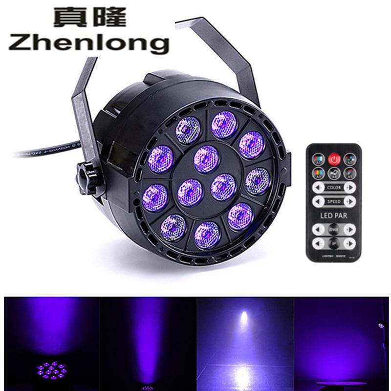 2pcs/lot 12 LEDs 36W Sound Active purple Stage Par Light Violet Led Spotlight Lamp for Disco DJ Projector home Party PAR lights<br>