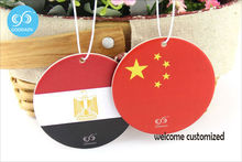 paper air freshener custom printed different countries flags car air freshener 9 fragrance for option Custom design only(China)