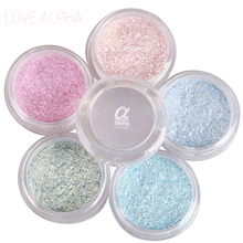 LOVE ALPHA 13 Colors Eye Shadow Flash Powder Super Bright Pearl Shining Bright Glitter Powder Pink Diamond Brand Makeup(China)