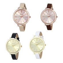9&cheap Freeshipping 2017 Fashion Analog Dial Narrow Leather Strap Wrist Watch For Women Girl Wholesales #500717