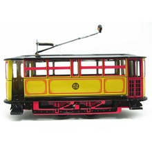 M89CRetro Wind Up Tram Cable Bus Clockwork Streetcar Toy Vintage Collection Kid Gift