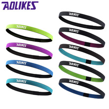 AOLIKES 1 Pcs Nylon Elastic Head Sweatband Non-slip For Men Women Yoga Hair Bands Running Sweat Bands Fitness Headband Wholesale(China)