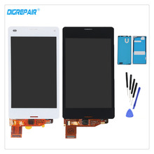 "4.3"" A+ Black/White For Sony Xperia Z3 mini Compact D5803 D5833 LCD Display Digitizer Touch Screen Assembly Parts+Adhesive+Tools(China)"