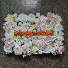 HOT White and light pink 10PCS / lot Artificial silk rose hydrangea peony wedding background decoration flower wall TONGFENG(China)
