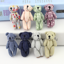 New arrivel 20pcs Mini Joint Bear denim teddy bears Plush toys Wedding gifts Kids Cartoon toys Christmas gifts Couple Gifts