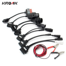 Kroak 8 Pcs Vehicle Fault Diagnosis Tool Scanner OBD OBDII OBD2 Adapter Cable For CDP TCS HD Pro Cars