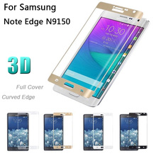 For Samsung Galaxy Note Edge N9150 Screen Protector, 3D 9H HD Full Cover Curved Edge Color Tempered Glass Film(China)