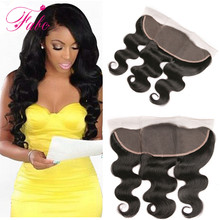 7A cheap 13x4 full ear to ear brazilian lace frontal closure lace frontal with baby hair  brazilian body wave frontal hair piece
