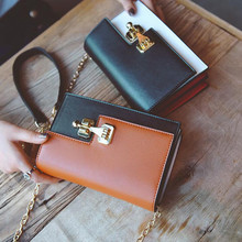 M410 2017 New Summer Women Bag Simple Temperament Matt Simple Chain Bag Gap Design Hit Color Mini Messenger Bag Small Size