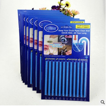 12Pcs/Pack Sani Sticks sewage decontamination to deodorant The kitchen toilet bathtub drain cleaner sewer cleaning rod
