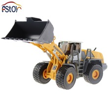 Metal Alloy Diecast Toy Bulldozer Truck Model 1:50 4 Wheel large Liftfork Engineering Truck Collection Toys