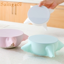 Saingace Kitchen tools Bowl Lid Silicone Plastic Wrap Cover perfect for Microwave Oven Refrigerator Fresh Bowl Seal*25 2017