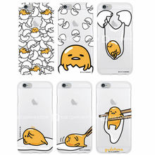 Cute Funny Gudetama Cartoon Character Egg Pattern Lasy boys Soft Clear Phone Case For iPhone7Plus 7 6plus 6S 5S 4S SE Galaxy S7