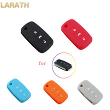 LARATH 3 Buttons Colorful Car Key Silicone Case for Volkswagen VW Golf Passat Polo Jetta Touran Bora Sharan