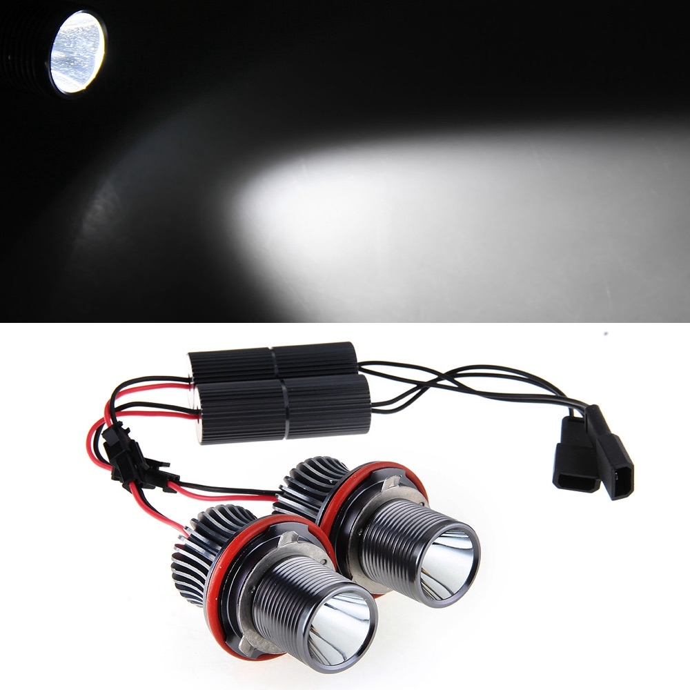 Qook 2 piece 10W 10W LED Angel Eye Light Bulb for BMW E39 E53 E61 E63 E64 E83<br><br>Aliexpress