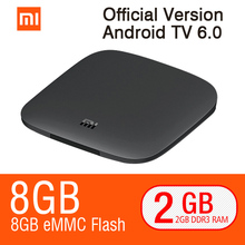 Original Xiaomi MI TV BOX 3 Android 6.0 2G/8G Smart 4K Quad Core HDR Movie Set-top WIFI Google Play Netflix Smart Media Player