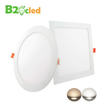 4 PCS spots light LED Panel Downlight 220V 240V ultrathin ceiling recessed lamp Round Square warm white 3W 6W 9W 12W 15W 18W