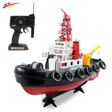 RC Boat Large U.S Fire Boat Spray Water 5 Channel Remote Control Seaport Work Boat Fire Fighting Ship Model electronic toys