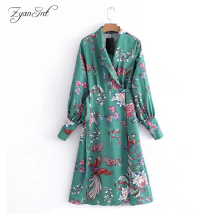 Buy 2018 ZyanInt Top Brand Women Dress Floral Sashes V-neck Spring Girl Sexy Dress Vintage Lady Dresses Kimono Style for $20.69 in AliExpress store