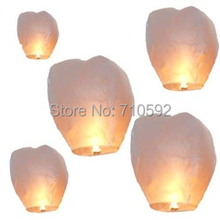 Big! Supreme! White 5pcs Wishing Lanterns Flame Retardant Chinese Sky Lanterns Flying Lantern Paper Lanterns Birthday Wedding