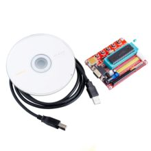 Freeship Microchip pic microcontroller minimum system development board PIC16F877A + USB CABLE