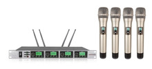 4 X 50 channel wireless microphone  professional UHF Wireless Microphone System draadloze microfoon