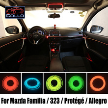 Car Console Decorative Strip / 9 Meter EL Wire For Mazda Familia / 323 / Protege / Protege5 / Allegro / Romantic Atmosphere Lamp