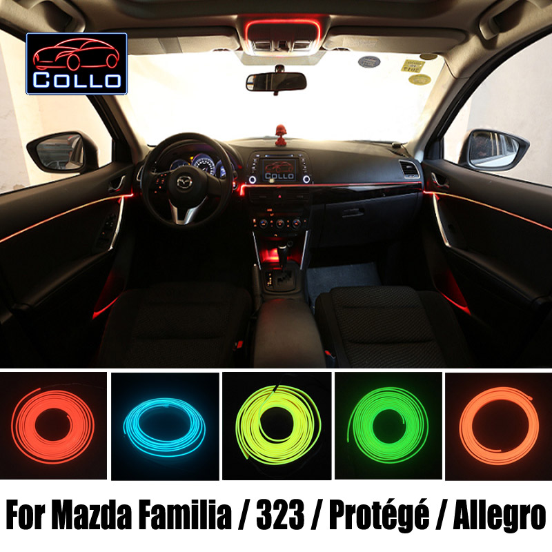 Car Console Decorative Strip / 9 Meter EL Wire For Mazda Familia / 323 / Protege / Protege5 / Allegro / Romantic Atmosphere Lamp<br>