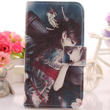 Exyuan Case For Highscreen Omega Prime S Cell Phone Leather PU Protection Cover Book Style With Card Holder