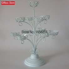 Wrought Iron Candlestick Type 11 Cupcake Holder Cake Dessert Stand Assemble Design(China)