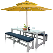 2017 Outdoor Furniture Rattan Dining Table with Chairs(China)