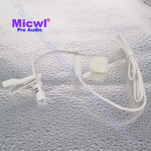MICWL MO35 White Color Lavalier Lapel Clip On Omni-Directional Microphone for PC Computer Laptop 3.5mm Jack(China)