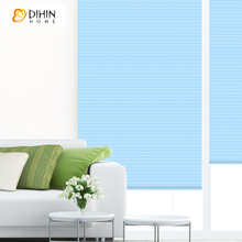 Modern Rollor Blind Curtains Colorful Style Natural Cloth Shutter Double Layer Shade Blinds Custom Made Curtain For Living Room