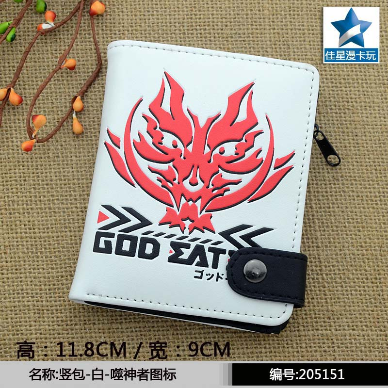 Anime/Game the Logo of God Eater PU White Wallet/Purse with Button &amp; Interior Zipper Pocket<br><br>Aliexpress