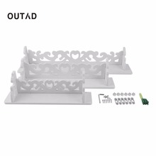 OUTAD 1 Set 3pcs White Wood Display Wall Shelf Storage Ledge Home Dector simple cleaning and durability home use Hot Sale
